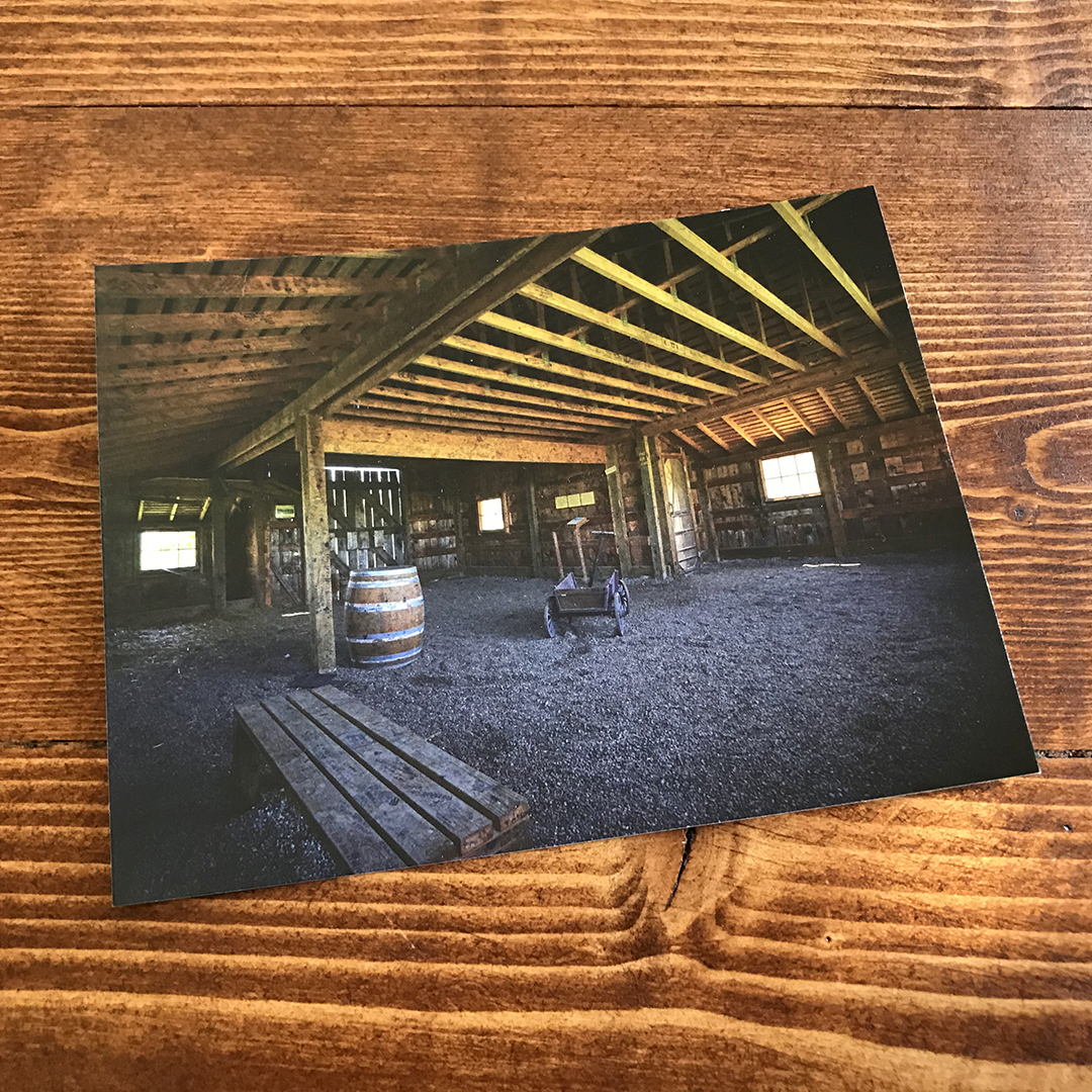 POSTCARD - Inside Disney Barn