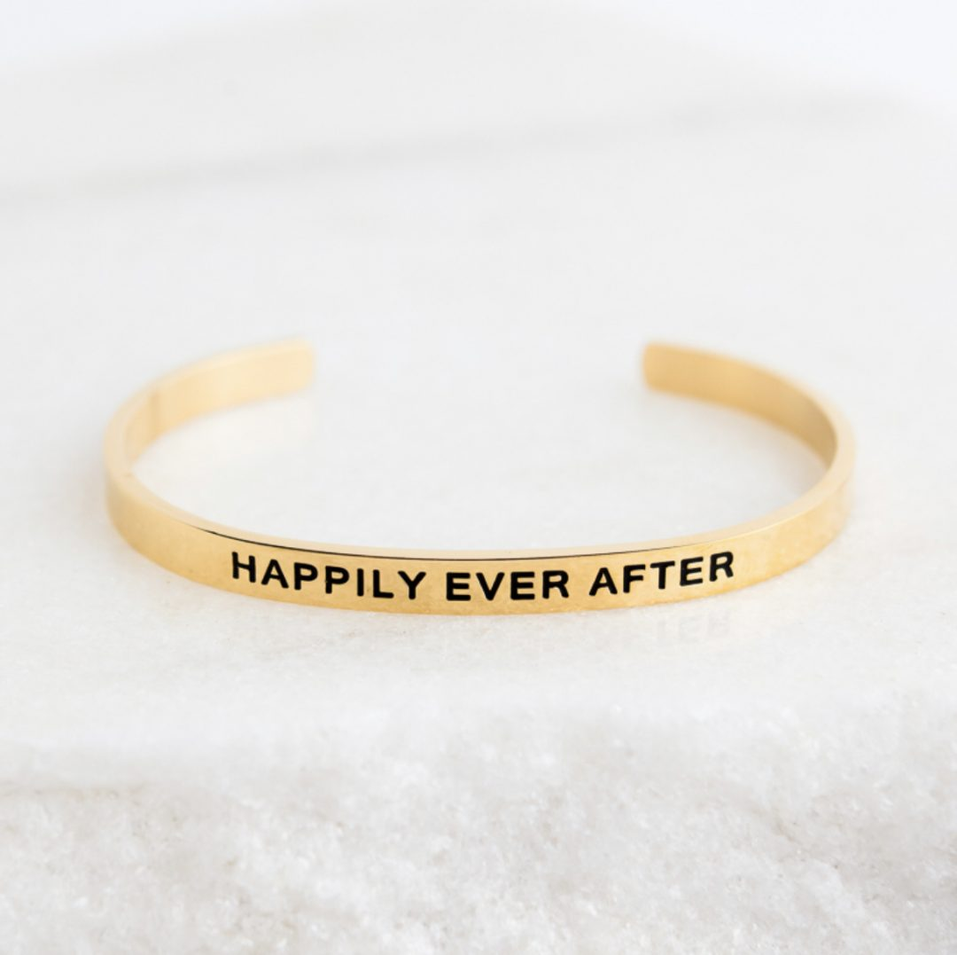 Quote Bracelet- Happily Ever After