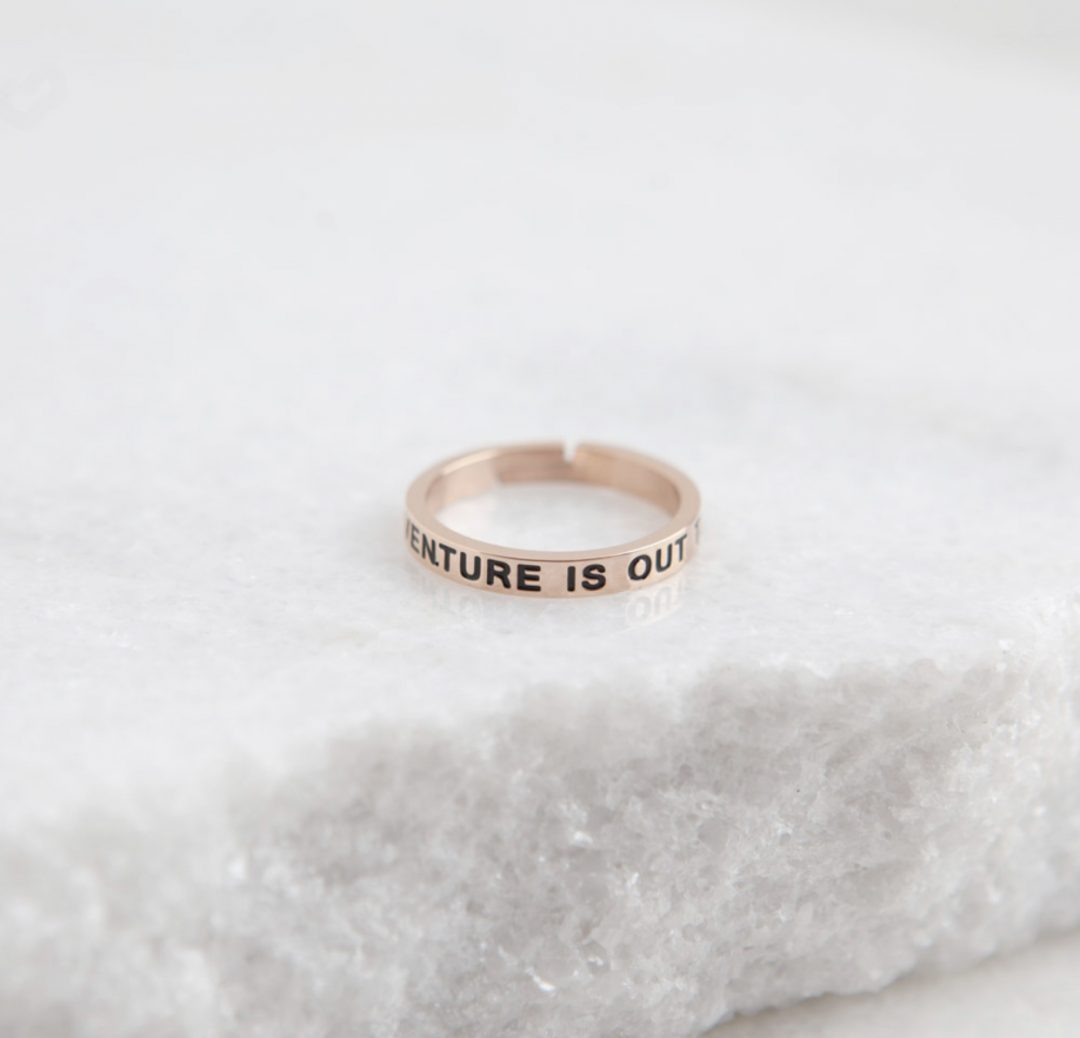 Quote Ring - Adventure Is Out There