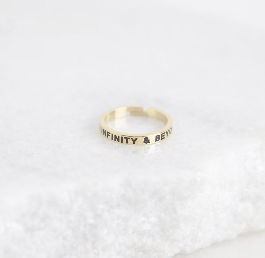 Quote Ring - To Infinity & Beyond